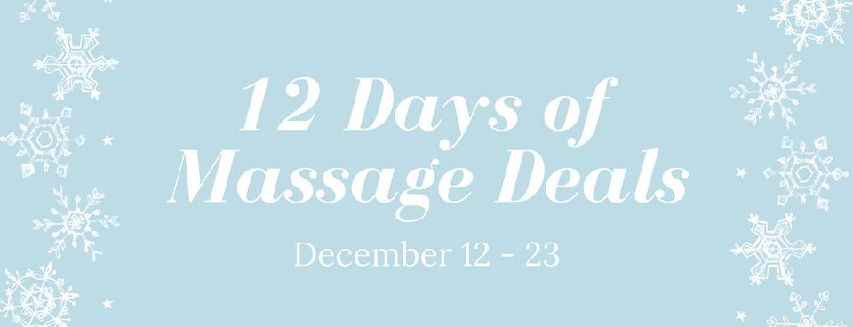 12 Days of Massage Deals!